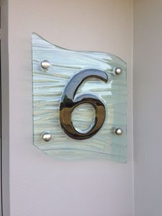 Textured Glass House number, all custom made...Gold Coast