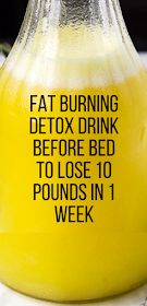 Powerful natural fat burning detox drink before bed to lose 10 pounds in 1 week safely. If you want to burn fat while detoxing your body this fat burning detox drink before bed will help you get rid of that stubborn belly fat in no time! Detox Drink Before Bed, Drinks Before Bed, Diet Drinks, Healthy Drinks, Beverages, Healthy Tips, Health Blog, Health Fitness, Detox Kur