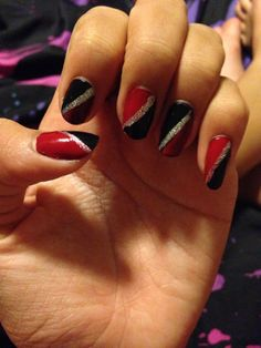 Black and red.