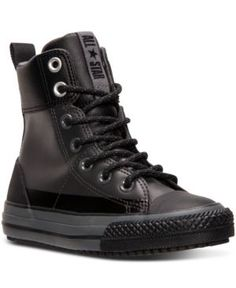 Converse Boys' Chuck Taylor Asphalt Boots from Finish Line - Gray 6 Mode Converse, Converse Boots, Boys Shoes, Me Too Shoes, Puma Boots, Pullover Shirt, Mens Boots Fashion, Unique Shoes, Luxury Shoes