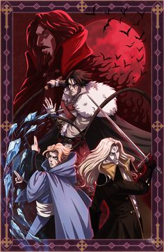 Fan art based off of the designs from the Netflix Anime. Was kinda obsessed after I watched it and I rarely do fan art but I was into this one lol Castlevania Castlevania Dracula, Alucard Castlevania, Castlevania Netflix, Castlevania Lord Of Shadow, Castlevania Wallpaper, Manga Anime, Anime Art, Vampire Hunter D, Lord Of Shadows