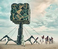 Da Vinci Virus - Brennan Steele - Honorarium Art Grant project from Burning Man. Burning Man 2016, Art Grants, Fall Crafts For Kids, Effigy, Digital Magazine, Meet The Team, Global Art, Public Art, Burns
