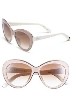 Dior 55m Cat Eye Sunglasses available at  Nordstrom Latest Sunglasses,  Sunglasses Shop, Dior c00068e743