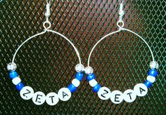 Zeta Hoop Earrings - I was asked to make these in honor of Zeta Phi Beta's upcoming founders day January 16th.