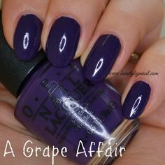 OPI A Grape Affair (from OPI Coca Cola 2014 Collection) via @beautybymissl