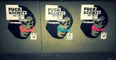 #puppetmaster #streetart #fucksociety puppet master, street art, fuck society