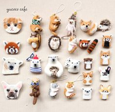 Cute Needle felted project wool animals (Via Clay Crafts, Felt Crafts, Diy And Crafts, Needle Felted Animals, Felt Animals, Felted Wool Crafts, Needle Felting Tutorials, Felt Brooch, Animal Projects