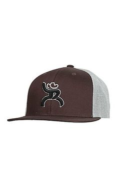 HOOey Brown with Black Embroidered Logo and Grey Solid Back Snap Back Cap | Cavender's