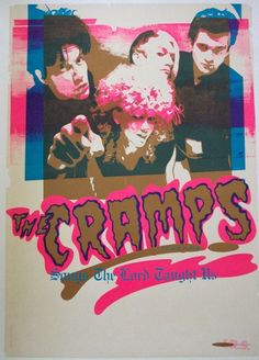 The Cramps: Songs The Lord Taught Us, promo poster issued by IRS, 1980 Punk Poster, Poster Boys, Band Posters, Music Posters, Pop Posters, Music Flyer, The Cramps, Music Artwork, Psychobilly