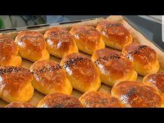 🌼Эти пирожки так вкусны что не успевают остыть! Пирожки как ПУХ! На второй день еще вкуснее!❤ - YouTube Medvedeva, Hot Dog Buns, Hamburger, Bread, Food, Youtube, Bread Baking, Pies, Kuchen