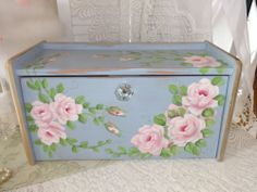 FABULOUS STORAGE BOX in Annie Sloan Louis Blue.  So PRETTY!  Available on eBay.
