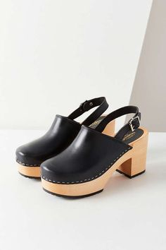 Slide View: 1: Swedish Hasbeens Jill Plateau Clog