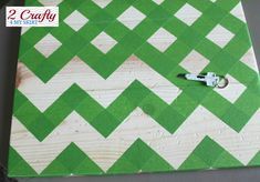 How to tape off the perfect chevron pattern!                                                                                                                                                                                 More