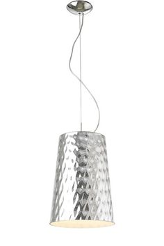 Silver Hammered Pendant Lamp by Moe's Home on @HauteLook
