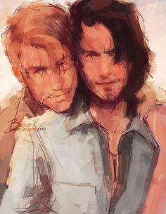 Remus and Sirius by bianca r. art (Pokieart)