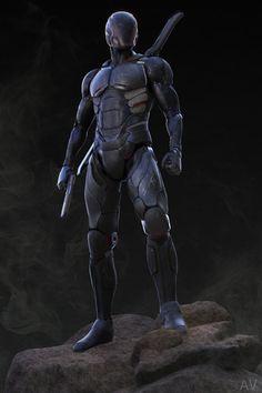 ArtStation - Sci-Fi Futuristic Assassin / Soldier in armor, Andrew Voelkl