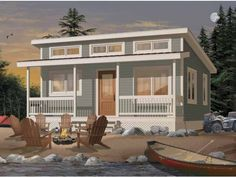 Family Home Plans offers the lowest prices on cabin house plans, featuring porches, decks, and screened rooms. Find your cabin house plans today! Cabin House Plans, Country House Plans, Tiny House Plans, House Floor Plans, Small House Plans Under 1000 Sq Ft, Small House Kits, Br House, Tiny House Living, House Roof