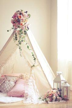 Romantisches Tipi als Dekoelement für dein zu Hause.