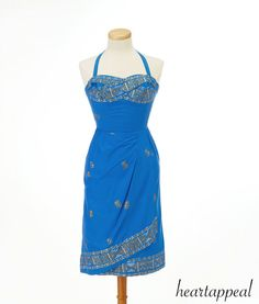 Vintage 1950s style dress (something to make with sari fabric)