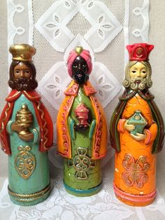 Vintage Three Wise Men Three Kings Christmas Candle by ThisLala, $52.00