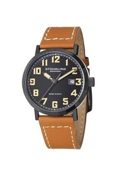 7ac87ba06da Swiss Made Christopher Ward MSL Vintage Edition Aviator automatic watch  with leather strap
