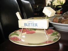 Dad's home made lamb butter for Easter.