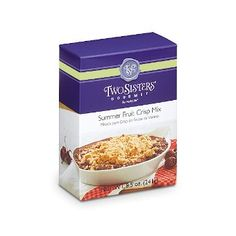 Summer Fruit Crisp Mix - It's easy to create a crisp using your favorite fruit, or mix with granola for a satisfying treat. 8.5 oz.  $8.00 each
