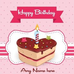 Write Name On Happy Birthday Wishes Your Lover Greeting Card With Pic Free Download