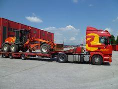 Sondertransport eines Grader von Österreich nach Deutschland mit #Scania.