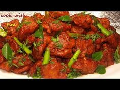 Hyderabadi Chicken 65 is a famous chicken fry recipe which is first deep fried and then shallow fried in a special spicy sauce Method Chicken boneless - Rolled Chicken Recipes, Spicy Chicken Recipes, Healthy Dinner Recipes, Indian Food Recipes, Appetizer Recipes, Easy Recipes, Appetizers, Easy Cooking, Cooking Recipes