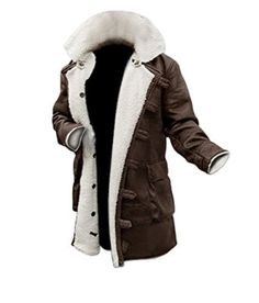 Mens Shearling Coat Brown Leather Shearling Jacket ►BEST SELLER◄ | Amazon.com