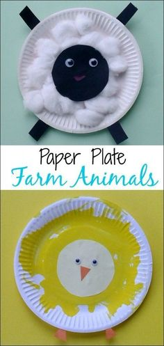 Crafts for Toddlers - Paper Plate Baby Farm Animals: what a fun Spring craft for little ones from Multicraftingmummy on Mess for Less. animals Crafts for Toddlers – Paper Plate Baby Farm Animals Farm Animal Crafts, Animal Crafts For Kids, Art For Kids, Crafts For Babies, Kid Art, Farm Theme Crafts, Dinosaur Crafts, Children Crafts, Preschool Crafts