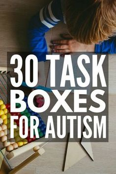 30 Task Boxes for Autism | Looking for shoebox tasks for autism to support your special needs curriculum? From developing fine motor skills, letter and number recognition, sight words, sorting, sequencing, reading, and math, these teacch tasks will help develop important life skills in early childhood, preschool, high school, and beyond. #autism #ASD #specialneedsparenting #parenting #parenting101 #autismawareness #specialeducation