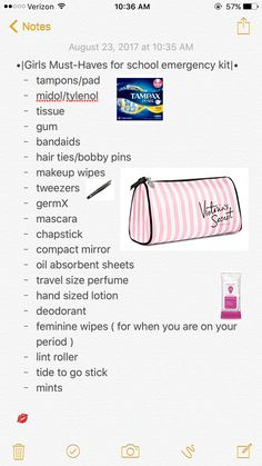 Life hacks for school, girl life hacks, school kit, school goals, highschool Middle School Hacks, High School Hacks, Life Hacks For School, School Study Tips, High School Essentials, Middle School Supplies, Purse Essentials, Back To School Tips, School Backpack Essentials