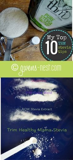 10 Trim Healthy Mama Stevia Tips - Gwen's Nest