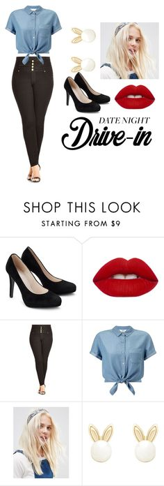 """""""no one's watching the movie """" by joonkoh ❤ liked on Polyvore featuring Lime Crime, City Chic, Miss Selfridge, ASOS, Lipsy, DateNight, drivein and summerdate"""