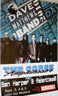 Dave Matthews Band Poster Concert $9.84  #DMB