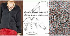 De costuras y otras cosas. Blusa con cuello mano. Modelo-104B-burdaStyle-04/2013