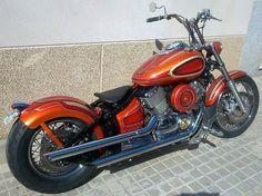 The Valentine by Perfect Cycles Custom Yamaha Drag Star chopper bobber