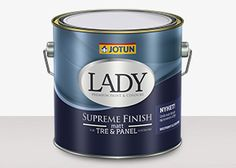 LADY Supreme Finish | Jotun.no - produkter Jotun Lady, Wonderwall, Designing Women, Supreme, Paint Colors, It Is Finished, House Design, Interior, Packaging