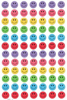 Smiley faces that can be made into individual stickers. Face Stickers, Kawaii Stickers, Plakat Design, Smiley Faces, Good Notes, Journal Stickers, Photo Wall Collage, Aesthetic Stickers, Indie Kids