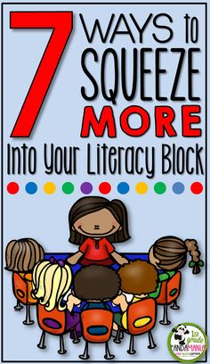 Use every minute of literacy instruction to its fullest and get your students reading at higher levels. 7 Ways to Squeeze More Into Your Literacy Block! Guided Reading Groups, Reading Centers, Reading Workshop, Student Reading, Reading Strategies, Reading Skills, Teaching Reading, Literacy Centers, Teaching Ideas