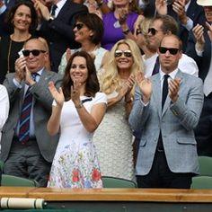 The Duke and Duchess of Cambridge watch the Wimbledon Tennis Championships