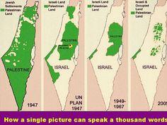 Israelis/Palestinians:  a picture paints a thousand words