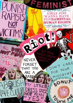 ImageFind images and videos about feminism, girl power and feminist on We Heart It - the app to get lost in what you love. Bedroom Wall Collage, Photo Wall Collage, Picture Wall, Collage Art, Riot Grrrl, Protest Kunst, Protest Art, Arte Punk, Political Art
