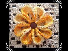 Flor em crochê - Rendinha - Professora Simone - YouTube