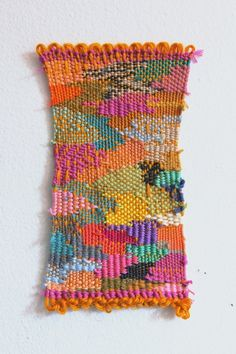 alicia scardetta art work weaving woven wall hanging tapestry in Brooklyn, NY Textile Tapestry, Textile Fiber Art, Tapestry Weaving, Textile Artists, Tapestries, Art Fibres Textiles, Weaving Textiles, Weaving Art, Hand Weaving