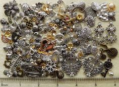 1/4 Lb Pound Lot Metal Daisy Spacer Caps Charms Beads Jewelry Making Findings #SwarovskiPureAllureCrystalInnovationsJBB #CharmsLinksComponentsPendantsSpacerBeadCap