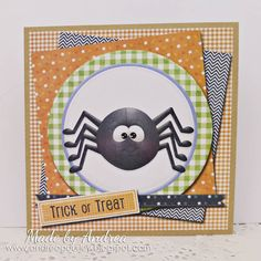 Cute Spider Halloween card...the perfect invitation, but should you accept?? Card created using Fly By Night Collection by Nitwit Collections™ #cardmaking