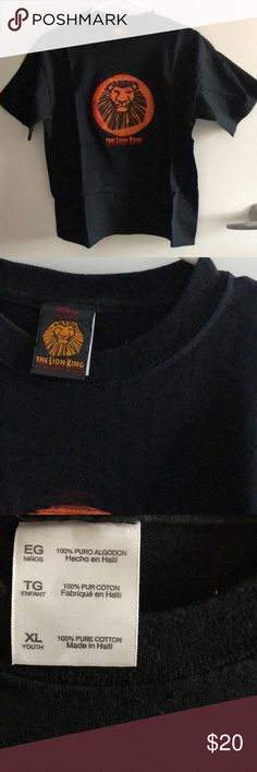 Lion King broadway musical tee The Lion King broadway musical youth XL tee. Never worn Disney Tops Tees - Short Sleeve